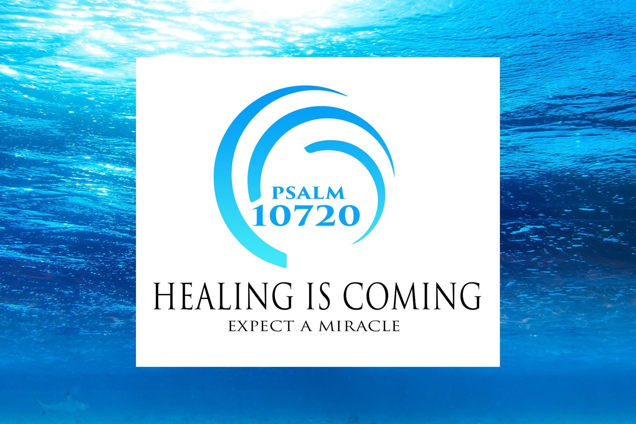 Healing is Coming links to the Healing is Coming.life website.